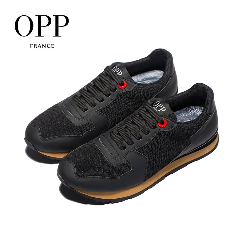 OPP Mens Shoes Summer Outdoor Large Size Sports Shoes Mesh Breathable Casual Shoes Mens Leather Running SneakerOPP Mens Shoes Summer Outdoor Large Size Sports Shoes Mesh Breathable Casual Shoes Mens Leather Running Sneaker