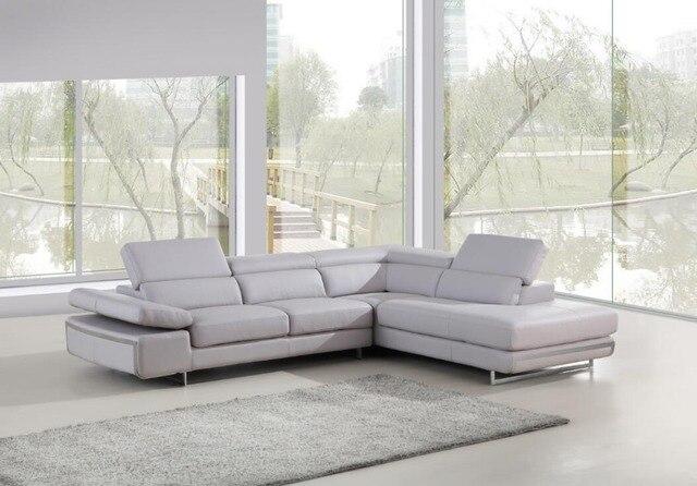 A forma di L divano design Moderno divano in pelle per divani ...