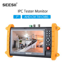 SEESII 9600SACT 7″ IPS HD WIFI Tester Monitor Security Camera IPC/AHD/TVI/CVI/CVBS Video HDMI Test IP Discovery PTZ Control 12V