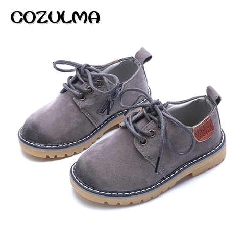 COZULMA Boys Girls Sneakers Lace up Leather Kids Fashion Sneakers Children Shoes Boys Girls Shoes Kids Sport Shoes Size 21-36 Pakistan