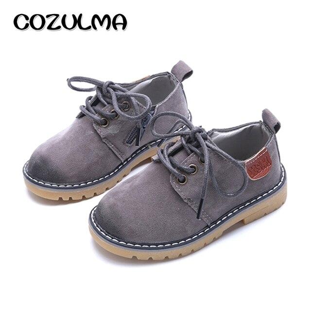 COZULMA ילדים בני בנות סניקרס תחרה עד עור אופנה נעלי ספורט בנים נעלי ילדי נעלי בנות נעלי ילדים ספורט גודל 21-36