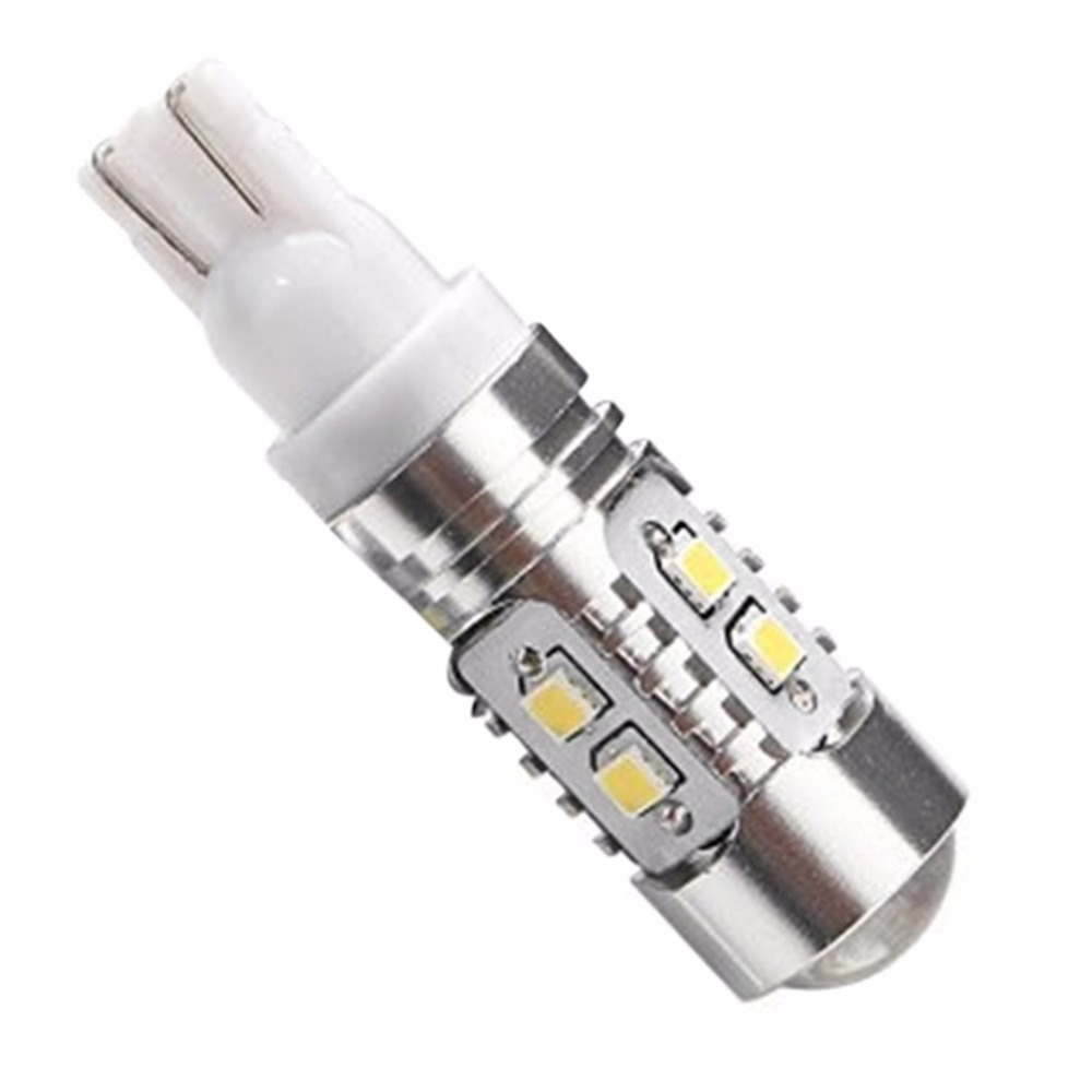 Super Bright White T10 W5W 50W 10 Smd DRL LED Bulb Car Auto Wedge Reverse Signal Light Lamp 194 168 Hot Selling 100pcs lot car auto led t10 5050 w5w 5 smd 194 168 led white car side wedge tail light lamp bulb 12 30m sticker on carvoiture