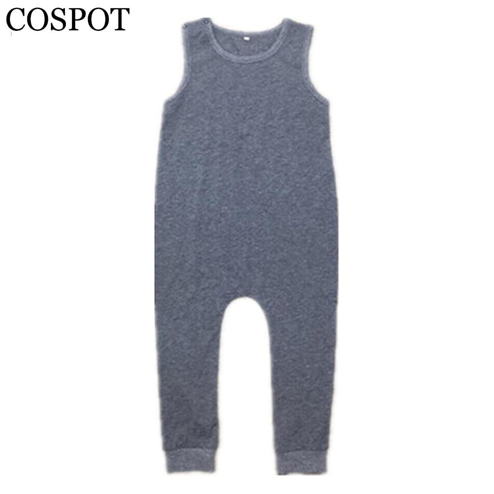 COSPOT Baby Boys Harem Rompers Toddler Summer Plain Gray Jumpsuits Kids Tank Playsuit Boy Fashion Jumper 2017 New Arrival 25F все цены