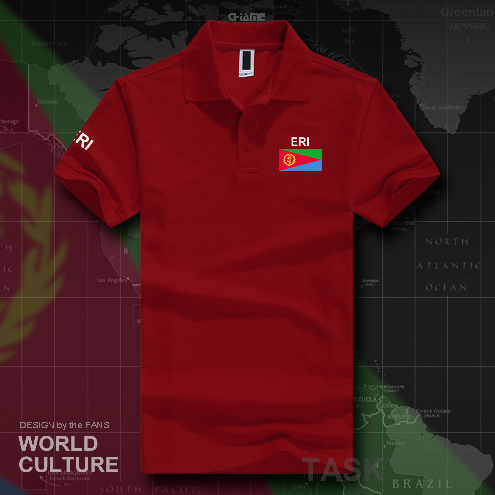 Eritrea Eritrean   polo   shirts men short sleeve white brands printed for country 2017 cotton nation team flag new fashion ERI ER