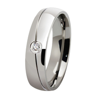 Classic Handmade Custom 6mm Polished Never Fade Simple Design Stainless Steel Ring For Men Woman Wedding