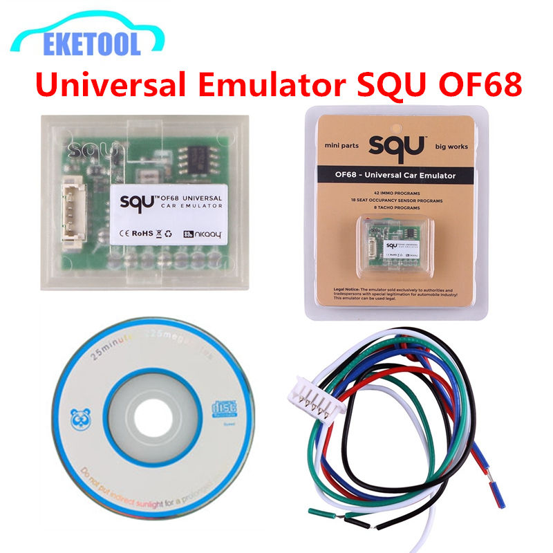 SQU OF68 Universal Car Emulator Multi-Cars MINI Parts Big Works 42 IMMO Programs 18 Seat OCCUPANCY SENSOR 8 TACHO PROGRAMS