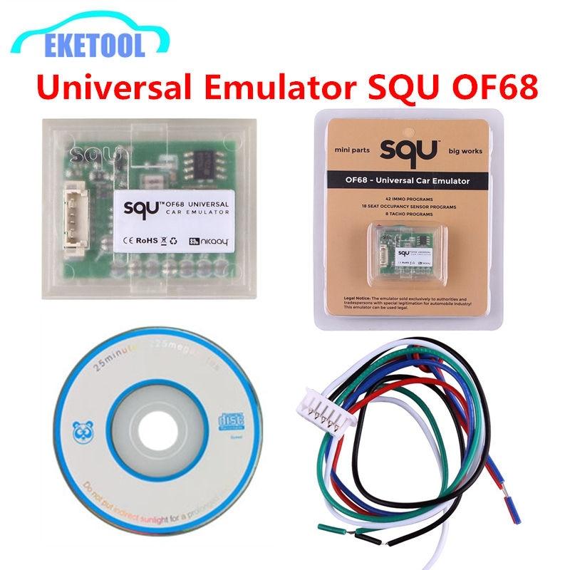 Универсальный автомобильный эмулятор SQU OF68 OF80, многофункциональные мини-детали, 42 программы IMMO, датчик заполнения на 18 мест, 8 программ на TACHO