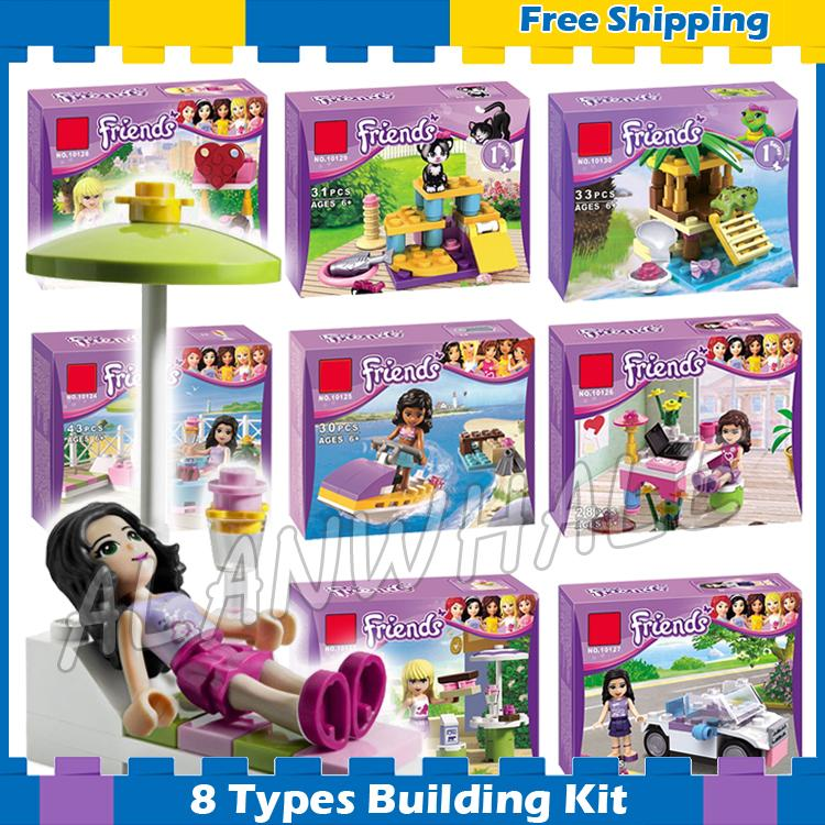 8types Friends Series Houses Animals Stephanie Mia Olivia Andrea Model Building Blocks Girls Toys Gifts Set Compatible With Lego ...