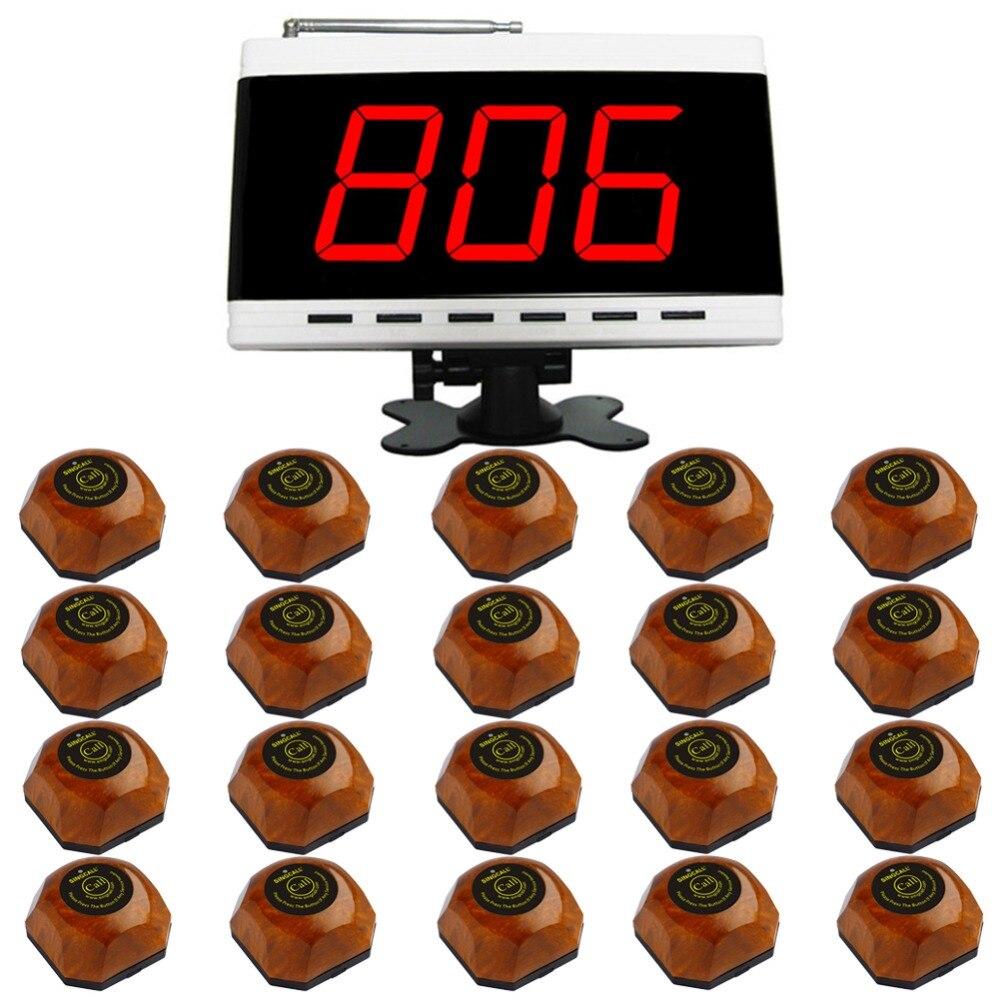 Système d'appel de table de restaurant sans fil SINGCALL. système de téléavertisseur pour restaurant, 20 téléavertisseurs, 1 récepteur radio