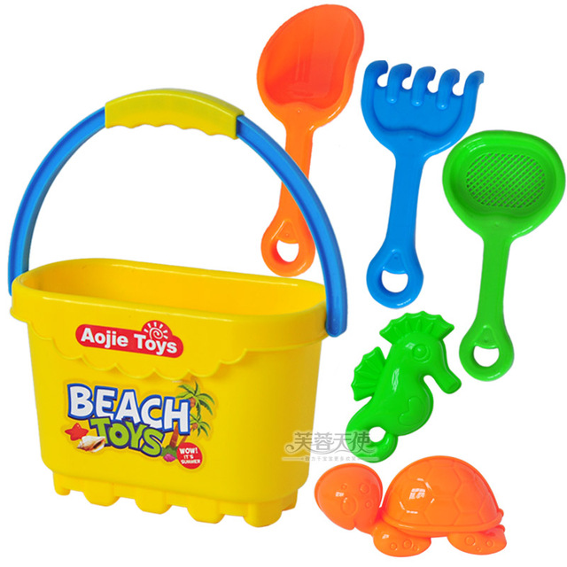 Summer beach swimming toys child beach toy Small beach bucket 6 set 9004 0.25