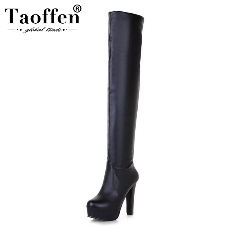 Office & School Supplies Taoffen Free Shipping Over Knee High Heel Boots Women Snow Fashion Winter Warm Shoes Boot P15869 Eur Size 32-45 A Plastic Case Is Compartmentalized For Safe Storage