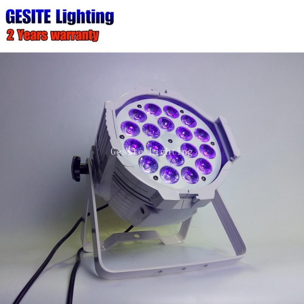 Guangzhou IP33 18x18 w mini par RGBWA UV LED stage Par 64 kan licht - 3