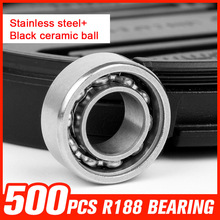 500pcs R188 Bearings Ball Stainless Steel Bearing for Fidget Hand Spinning Top Rotation Time Long Toy Hardware Tool Accessories
