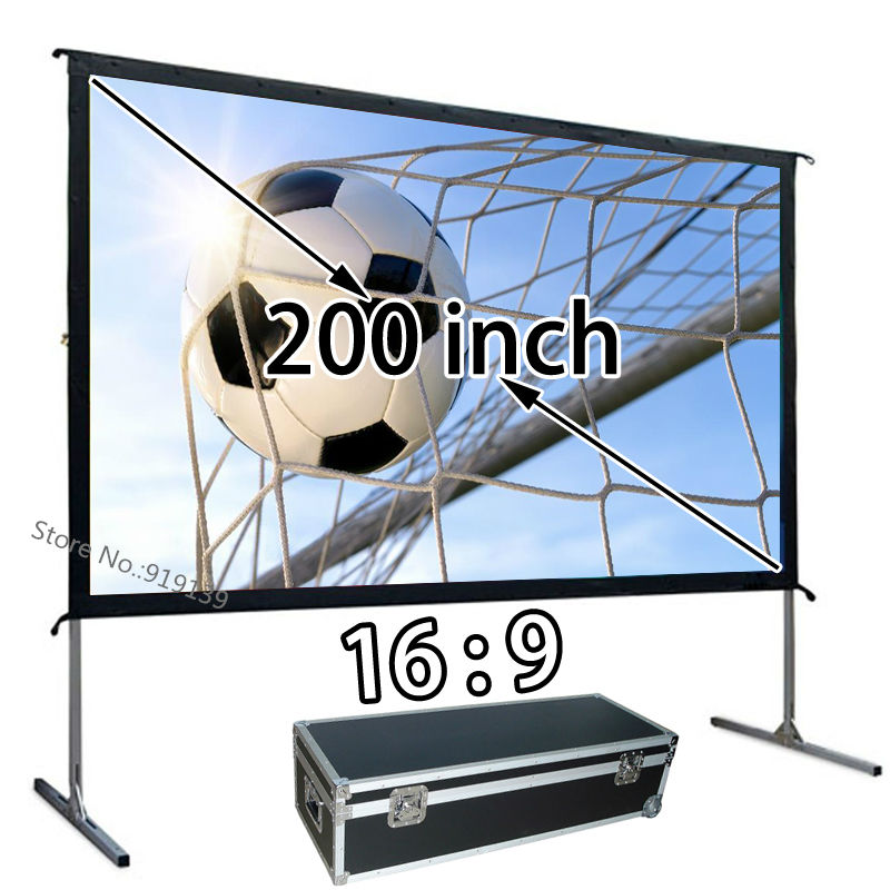 AliExpress Top Rate Seller HD Picture Screen 200 Fast Open Portable Projector Projection Screen 16 9