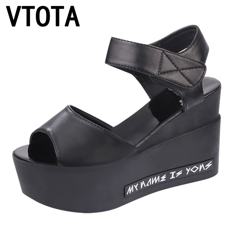 VTOTA Fashion Platform Sandals Women High-Heeled Sandals Wedges Woman Sandals Women Summer Shoes High Heels Shoes X279 phyanic 2017 gladiator sandals gold silver shoes woman summer platform wedges glitters creepers casual women shoes phy3323