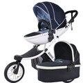 Alta paisagem carrinho de bebê carrinho de criança Pode sentar pode deitar dobrado two-way suspensão três-carrinho de bebê com rodas