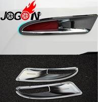 Chrome Trim For Mazda 3 M3 AXELA 2014 2017 Rear Tail Fog Light Lamp Frame Cover
