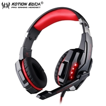 2PCS/lot EACH G9000 USB 7.1 Surround Sound Version Gaming Headphone Headset Headband with Microphone LED Light for PC/Computer
