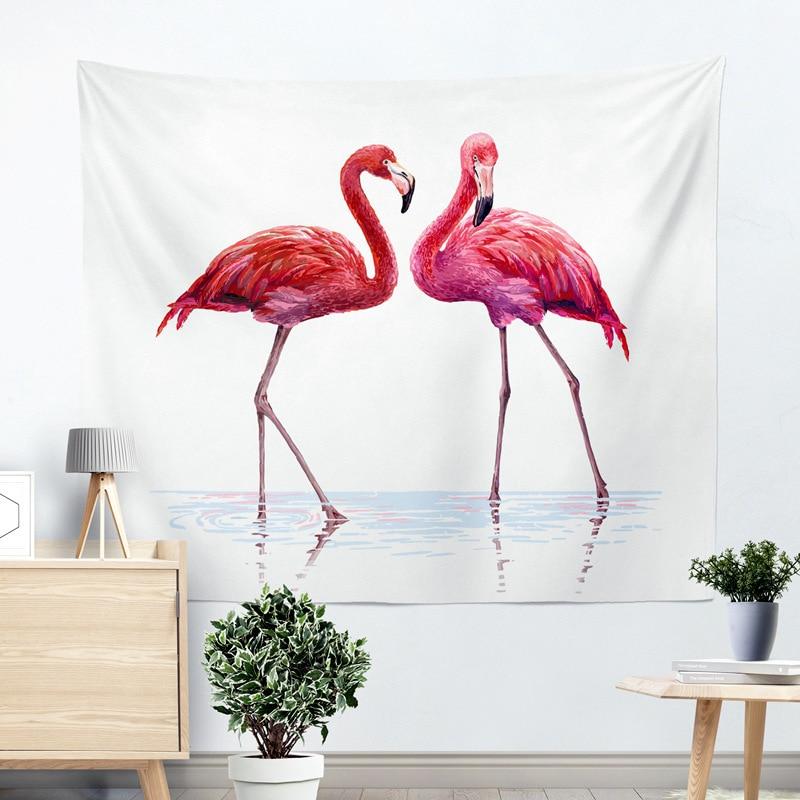 Miracille Polyester Flamingo Muur Doek Opknoping Tapestry Bruiloft Gift Sprei Strandlaken Yoga Picknick Mat Uitstekende Kwaliteit