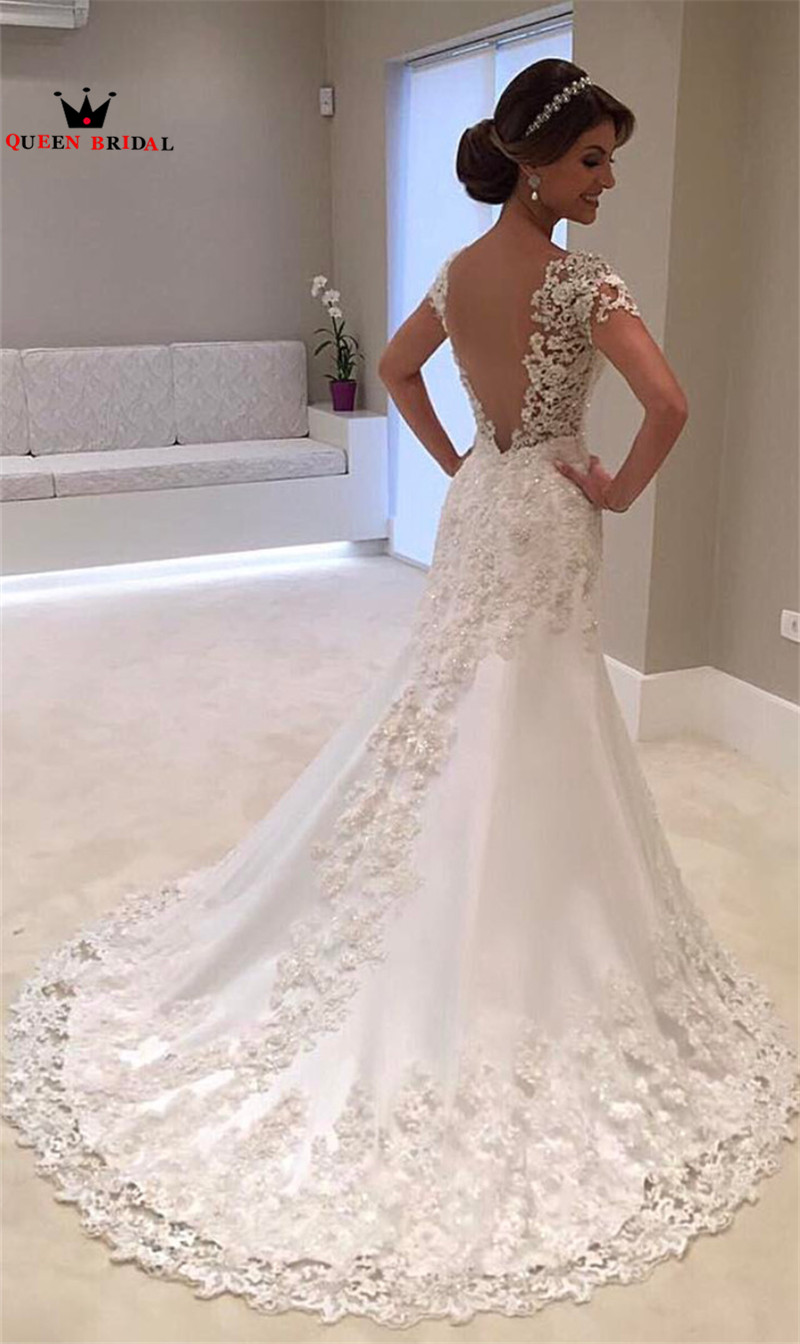 Queen Bridal Short Wedding Dresses Aline Half Sleeeve Lace Elegant Formal Gowns Vestido De Noiva Jw87: Lacey Elegant Wedding Dresses At Reisefeber.org