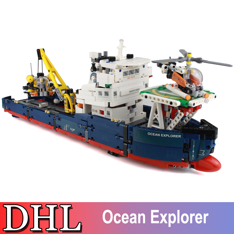 2018 New 1347Pcs Technic Figures Ocean Explorer Building Model Blocks Bricks Set Kid Toy For Children Gift Compatible With 42064 nature explorer box set