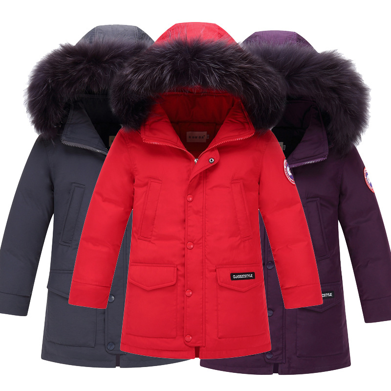 New Fashion 2018 Jacket Boy Winter Warm Thick Down Coats Girls Solid Zipper Hooded White Duck Down Jackets For Boys Kids Outwear new winter girls boys down jackets baby kids long sections down coats thick duck down warm jacket children outerwears 30degree