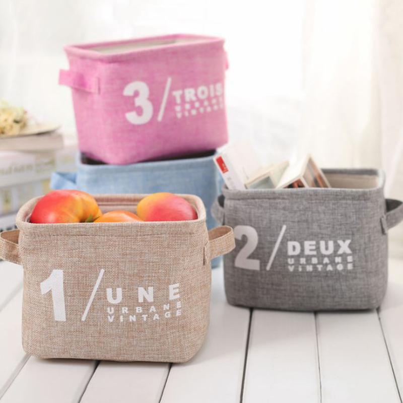 Waterproof Desktop Makeup Storage Bag Foldable Home Clothing Toy Organizer Exquisite Basket Home Storage Bag 20 X 15.5 X 15 cm