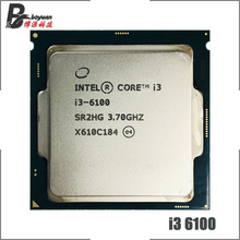 Intel Core i3-6100 i3 6100 3.7 GHz Dual-Core Quad-Thread 51W Processore CPU LGA 1151
