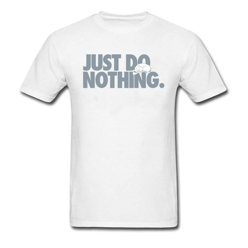 Best Gift Tops Kawaii T-Shirts 90's Cute Graphic Tees Funny Just Do Nothing Cat T Shirt Unisex Lazy Tshirt For Boy Custom 1