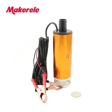 цена на Aluminium Alloy DC 12V Submersible Transfer Diesel Fue l Water Oil Pump On/Off Switch Car Camping Portable 30L Per Minute