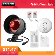 Fuers Wireless Siren Alarm System Kits Loudspeaker Warning Motion Indoor Siren Home Security Protection System For House Garage