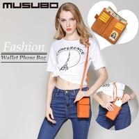 Musubo Mode Meisje 5.5 inch Universele Telefoon Tas Lederen case Vrouwen Luxe Wallet Bag Cover Voor Mobiele Telefoon Handtas Case
