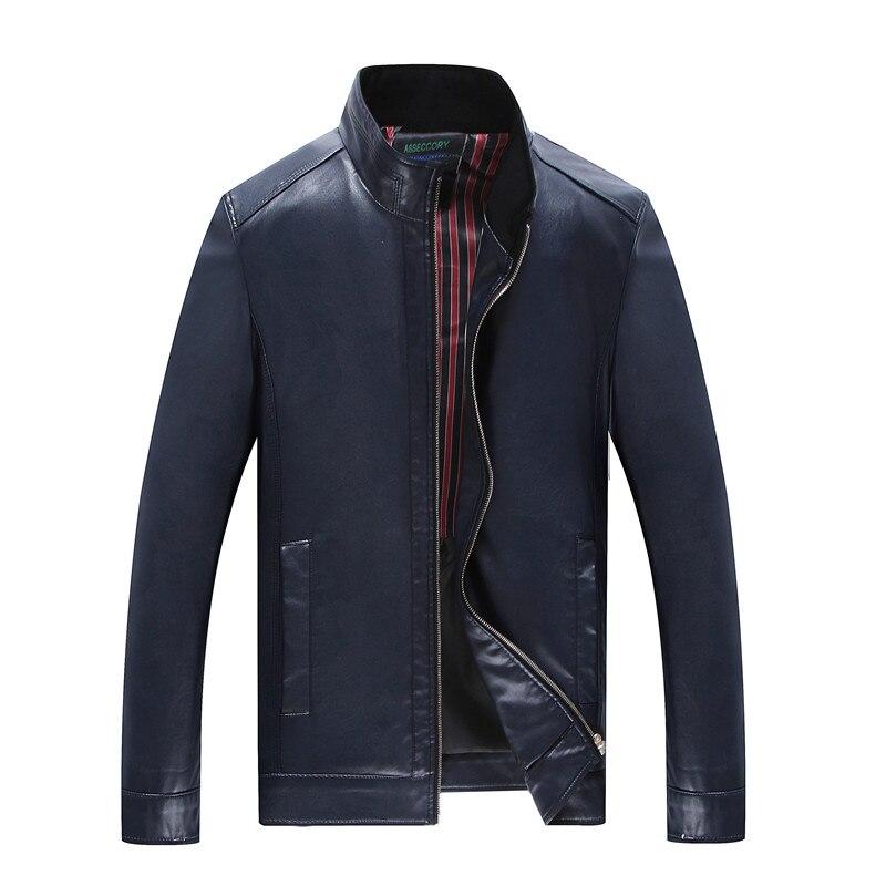 Lâche Hommes Vêtements Wine Chemise D'engrais Xl Blue Black red Cuir Plus navy Col Veste 2018 Graisse En Casual Pu Montant De Automne xPI1aS1qf