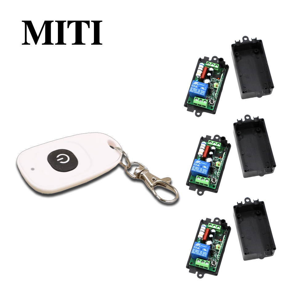 Best Price Wireless Remote Control Switch 110V 220V 1CH 10A RF Light Remote Control Switch for Intelligent Home 315/433MHZ MITI