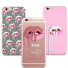 Фотография Phone Cases Sexy Girl Kylie Jenner Lips Kiss Clear Silicon Soft TPU Cover For Apple iPhone 5 5S SE 6 6s 6Plus 7 7Plus Coque
