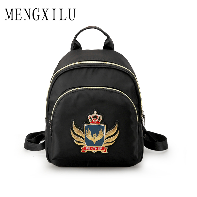MENGXILU Backpack for Teenage Girls School Mochila Feminina Escolar Small Women Backpacks Nylon Casual Bagpack Female Sac A Dos