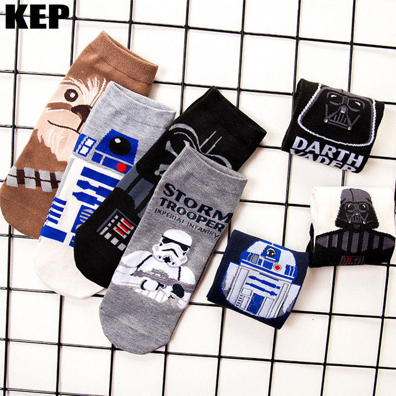 Men Socks Star Wars Movie Sock Master Yoda Cosplay Socks Wookiee Jedi Knight Novelty Men Women Socks Soft Comfortable Summer Sox