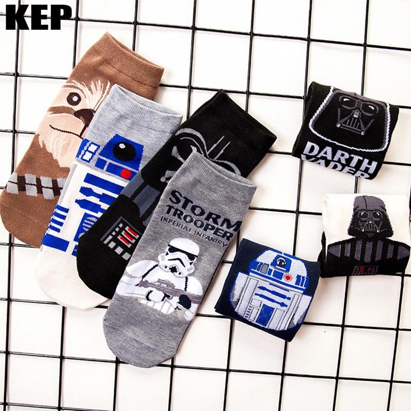 Men Socks Star Wars Movie Sock Master Yoda Cosplay Socks Wookiee Jedi Knight Novelty Men Women Socks Soft Comfortable Summer Sox