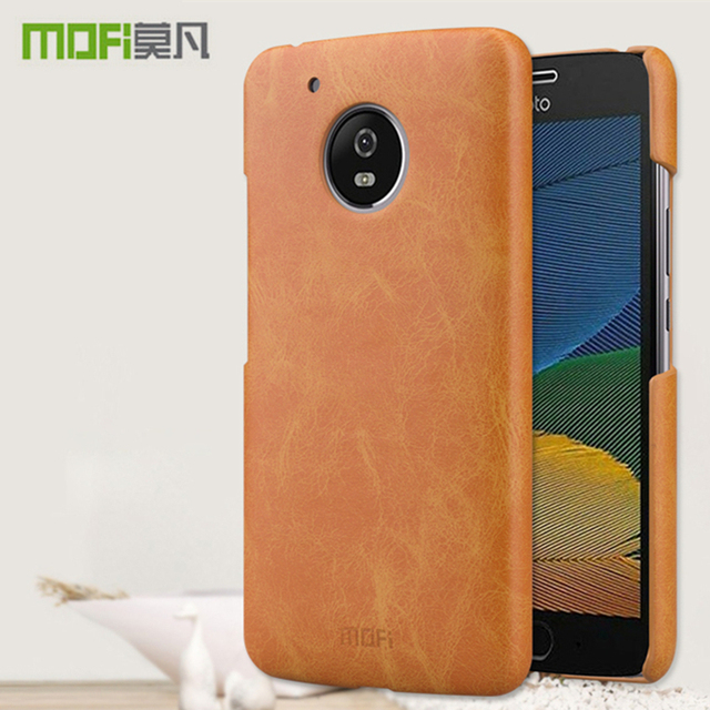 online retailer 4b20e 42912 US $8.59 |MOFI Case For Motorola MOTO G5 Cover for MOTO G5 Plus Case PU  Leather Hard Plastic PC Back Cover Shockproof Protective Shield-in ...
