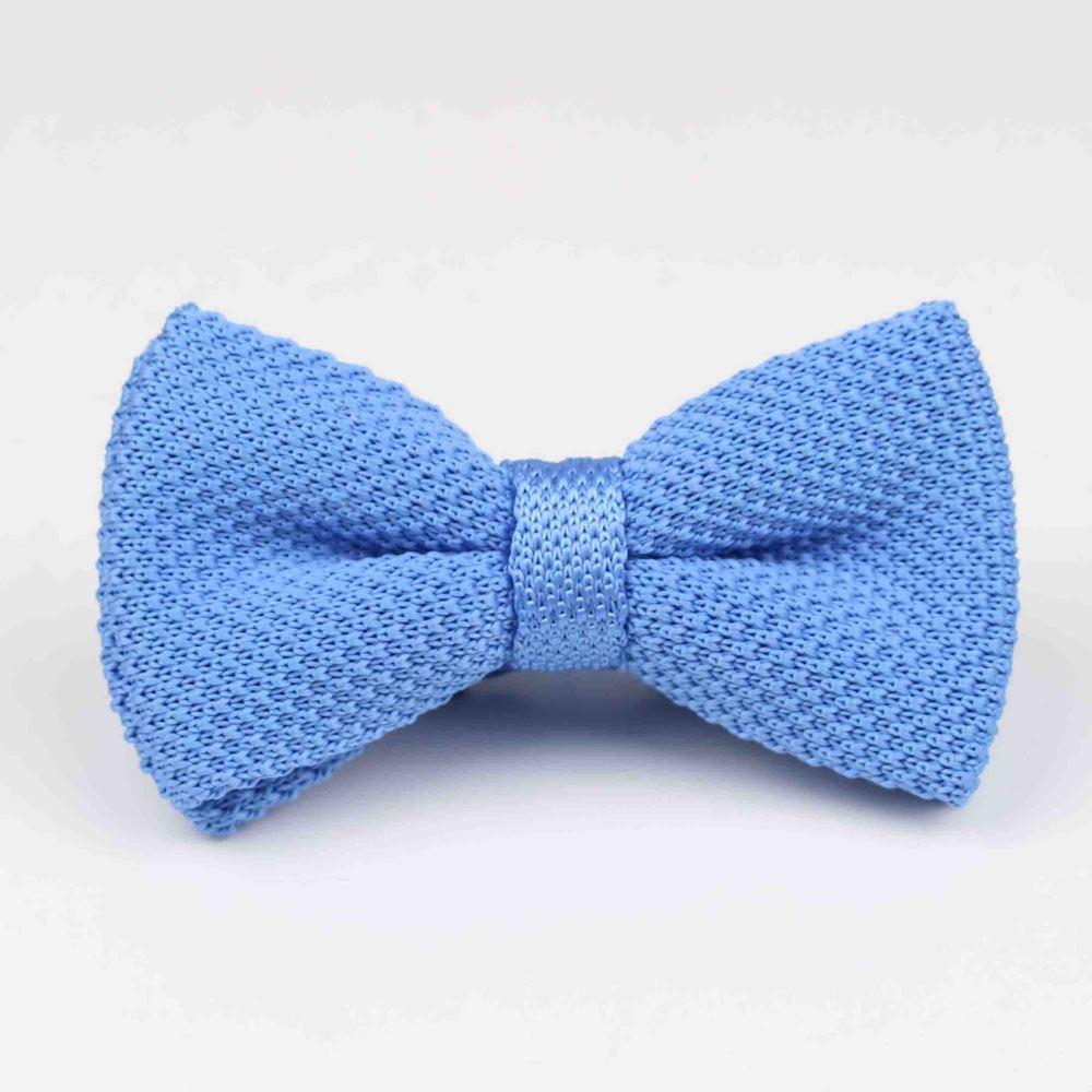 Мужские галстуки для шеи, смокинг, вязаная бабочка, Одноцветный галстук-бабочка, толстый двухслойный предварительно завязанный Регулируемый вязаный Повседневный галстук - Цвет: 30