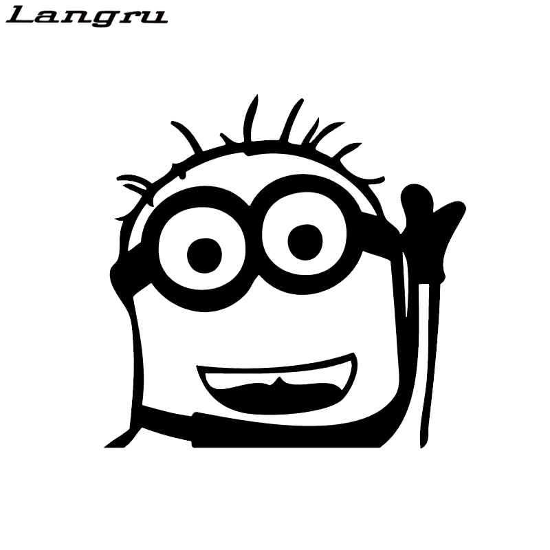 Langru Hot Sale Personality Car Stying Minion Car Decal Despicable Me Truck Creative Stickers Car Accessories Jdm
