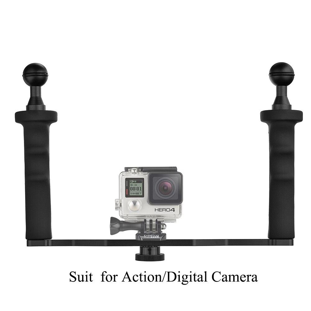 Shoot Waterproof Handheld Stabilizer Mount For Gopro 5 4 3 Xiaomi Yi 2 Gen 4k Sjcam Sj4000 Action Digital Camera With 1 Screw In Gimbal Accessories From