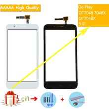 цена на For Alcatel One Touch Go Play OT 7048X 7048 OT7048X OT7048 Touch Screen Touch Panel Sensor Digitizer Front Glass Touchscreen