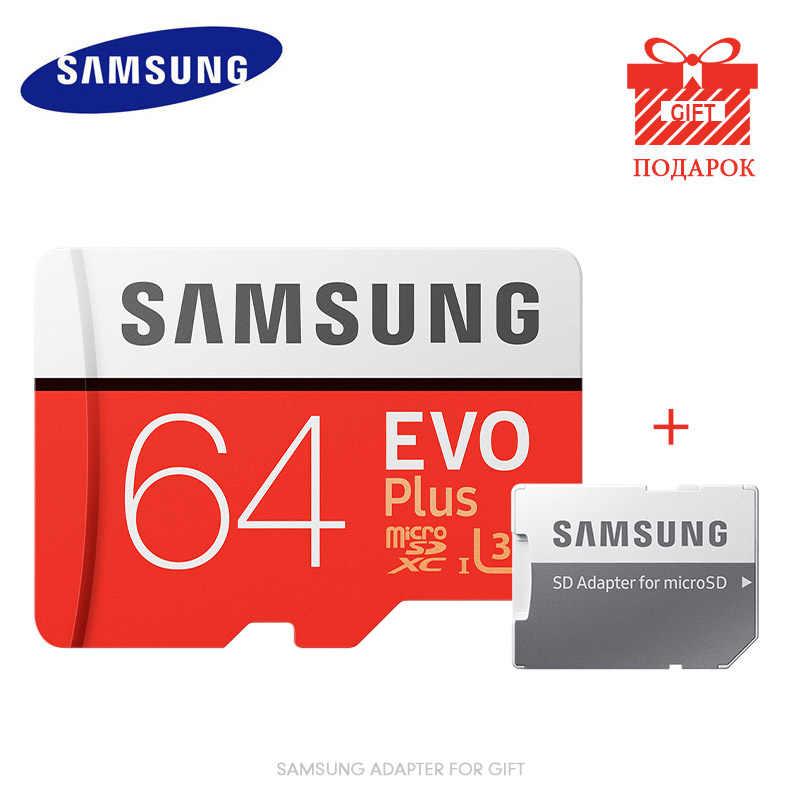 SAMSUNG карта памяти Micro SD объемом до 32 GB 64GB 128 gb карты памяти SDHC/SDXC карты памяти EVO Plus карты памяти 16 GB C10 UHS-I 4k TF/SD карты Модуль памяти TransFlash высокого качества для спортивной экшн-камеры go pro