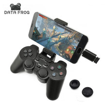 Data Frog Android Wireless Gamepad For Android Phone/PC/PS3/TV Box Joystick 2.4G Joypad Game Controller For Xiaomi Smart Phone wireless gamepad gaming controller for ps3 android tv box pc gpd xd with otg converter computer joystick joypad