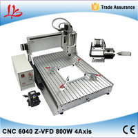 4 axis 800W LY CNC Router 6040 Z VFD china cnc milling machine for for aluminum metal wood with assembled & tested well