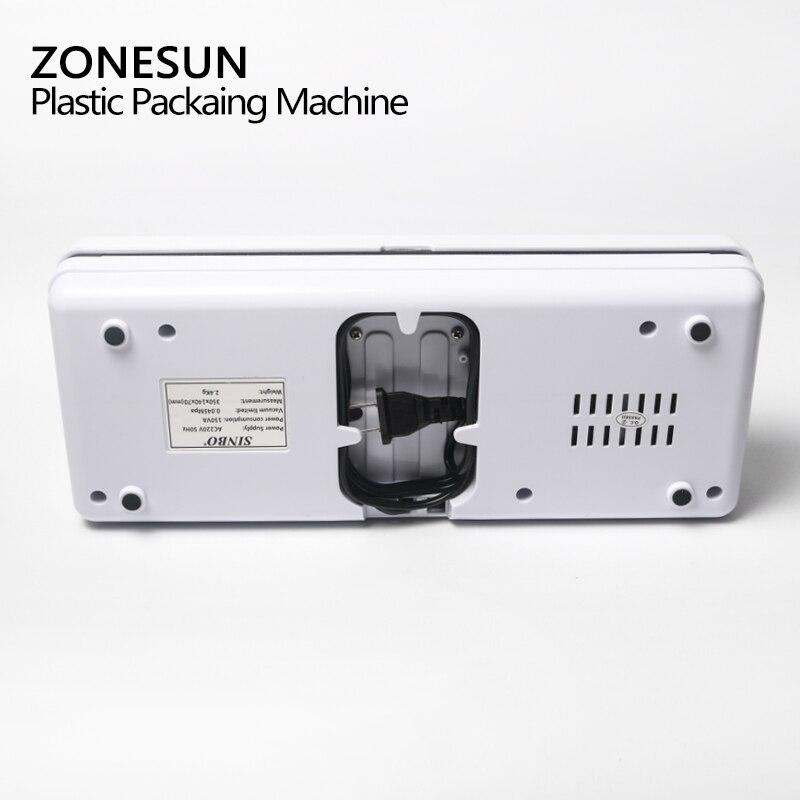ZONESUN petite Machine d'emballage sous vide domestique pompe à vide Machine de conservation des aliments - 5