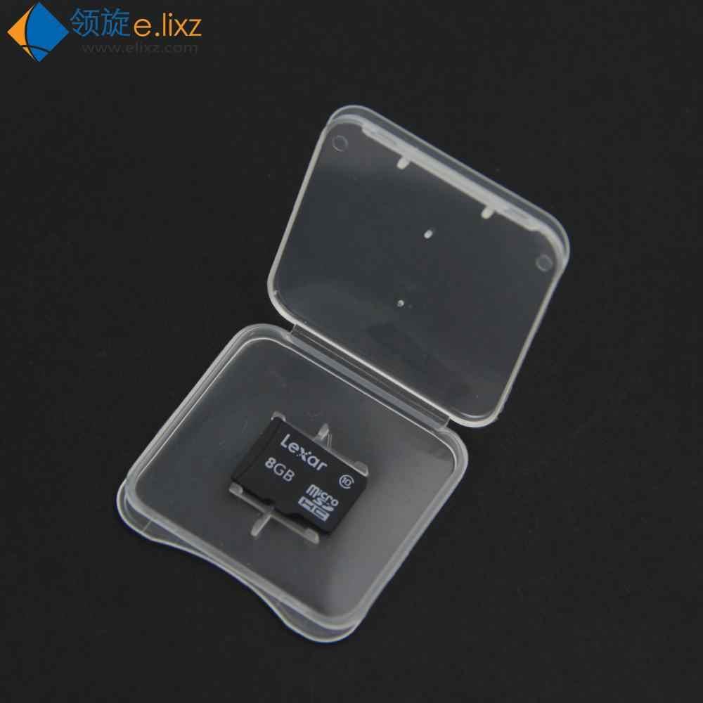 Kup 2 pac dostać 1 opakowanie za darmo 10 sztuk TF pudełko kartonowe etui na kartę pamięci karta micro sd Case przezroczysta ekologiczna obudowa z tworzywa sztucznego