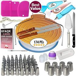Zestaw narzędzi do dekorowania ciasta wskazówki do oblodzenia gramofon torebki na ciasto łączniki dysza do dekoracji kremem narzędzia do pieczenia zestaw do ciastek babeczki w Narzędzia do pieczenia i cukiernictwa od Dom i ogród na