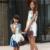 Famli 1 unid madre hija vestido de mamá niños chica de moda de verano floral sin mangas de impresión vestidos de fiesta elegante familia conjuntos